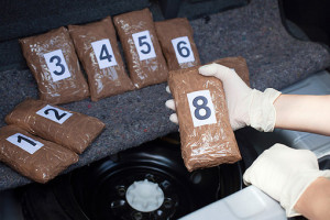 В багажнике машины, где находились офицеры Госнаркоконтроля, хранилось 35 кг гашиша и 7 кг кокаина/Фотография: iStockPhoto