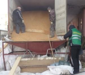 Проверка в порту контейнера с зерном